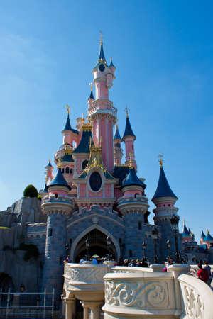 Paris, France, 1 June 2011 - Disneyland Paris Castle