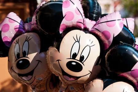 Paris, France, 01 June 2011 - Minnie Mouse Balloons
