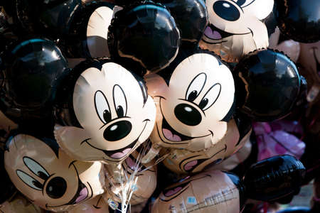 Paris, France, 01 June 2011 - Mickey Mouse Balloons