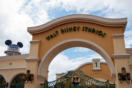 Paris, 10 June 2011 - Entrance in Walt Disney Studios Park.