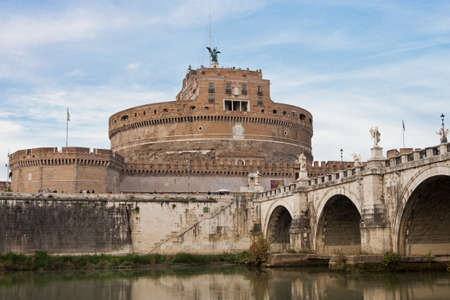 hadrian: Mausoleum of Hadrian, usually known as the Castel Sant Angelo, in Rome Editorial