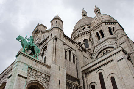 sacred heart: Basilica of the Sacred Heart, Paris Stock Photo