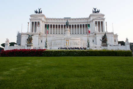 emmanuel: National Monument to Victor Emmanuel II or Altar of the Motherland in Rome, Italy Stock Photo