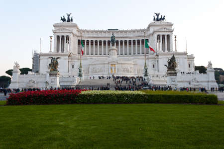 emmanuel: National Monument to Victor Emmanuel II or Altar of the Motherland in Rome, Italy Editorial