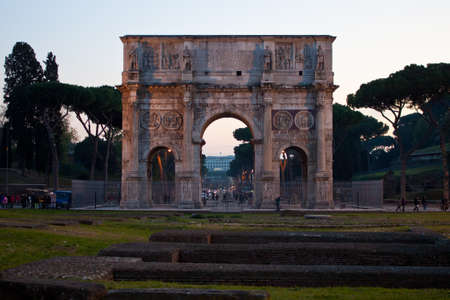 The Arch of Constantine at dusk in Rome, Italy Stock Photo - 11581096