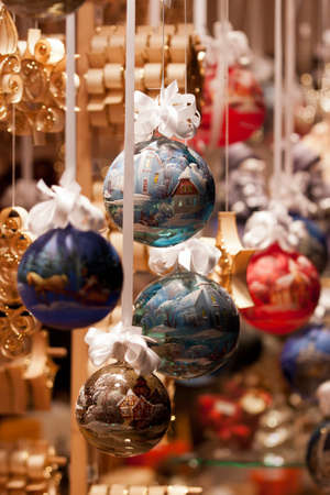 Christmas Decoration in the Viennese Christmas Market Stock Photo - 11831394
