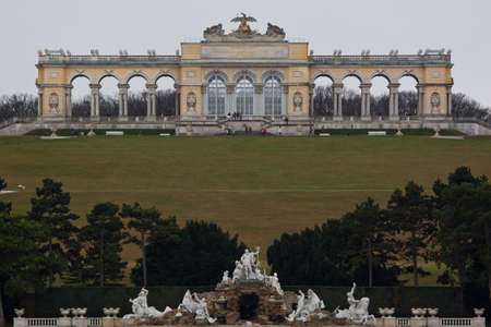 the gloriette: Schonbrunn Garden and the Gloriette in Vienna, Austria