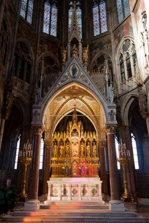 Votive Church (Votivkirche) in Vienna, Austria. Editorial