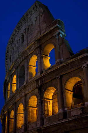 The Coliseum at night photo
