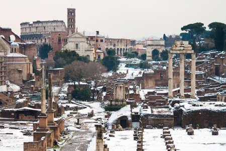 severus: Roman Forum with snow.