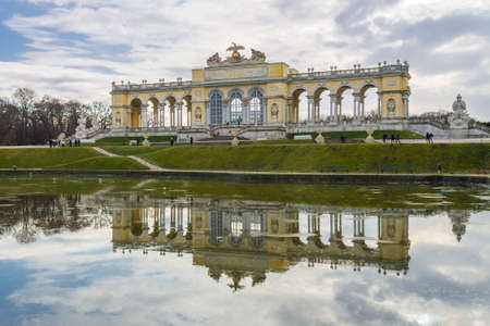 the gloriette: The Gloriette in the Schonbrunn Palace Garden, Vienna, Austria Editorial