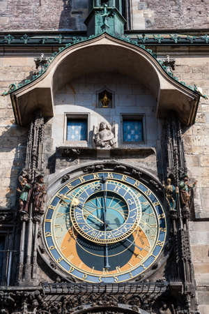 czech culture: Astronomical Clock in Prague, Czech Republic