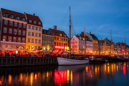 Nyhavn at night in Copenhagen, Denmark Stock Photo - 15294321