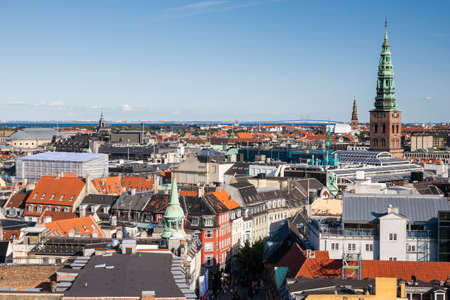 Cityscape of Copenhagen from the Round Tower Stock Photo - 19427435