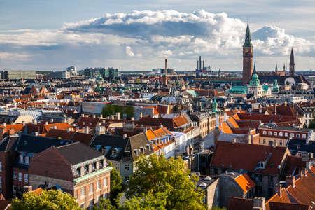 Yuvarlak Kulesi Kopenhag Cityscape