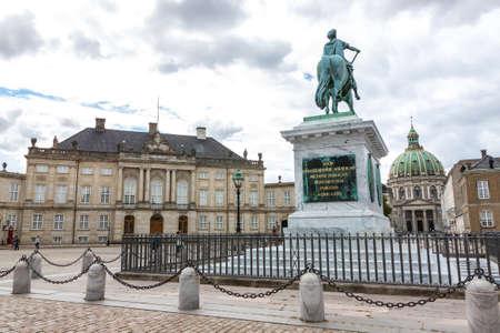 Amalienborg Sarayı, Kopenhag, Danimarka Stock Photo