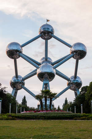 Brussels, Belgium, 04 August 2012 - The Atomium in Brussels. Editorial
