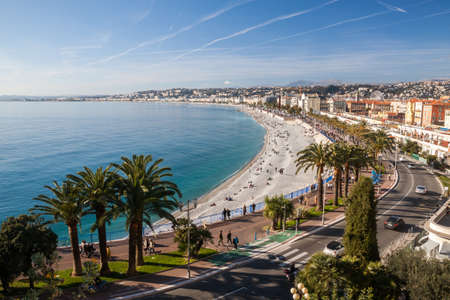 View of Nice in the French Riviera, France