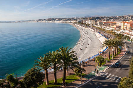 nice  france: View of Nice in the French Riviera, France