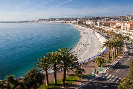 bella: Vista di Nizza in Costa Azzurra, Francia