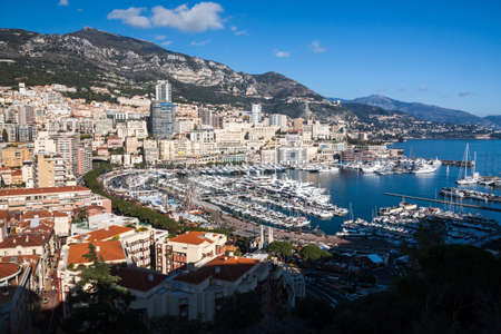Monte Carlo skyline, French Riviera Stock Photo