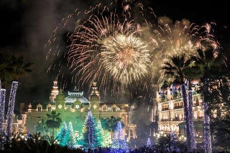 Monte Carlo Casino v průběhu oslavy Nového roku