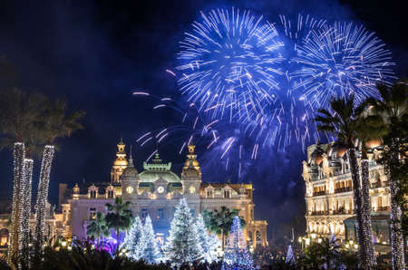 Monte Carlo Casino during New Year Celebrations photo