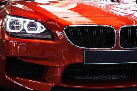 motor racing: Red Sports Car