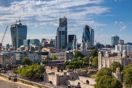 London skyline from the Tower Bridge photo
