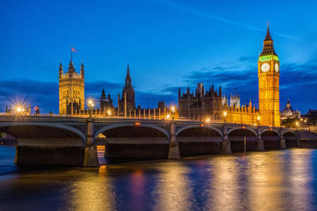 London at night  Houses of Parliament and Big Ben photo