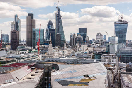 London skyline from St Paul Stock Photo