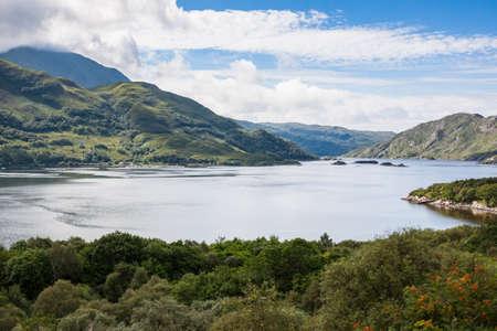 İskoçya'da, İngiltere'de Highlands manzara. Mallaig Fort William Yakubi Tren gezisi sırasında Taken.