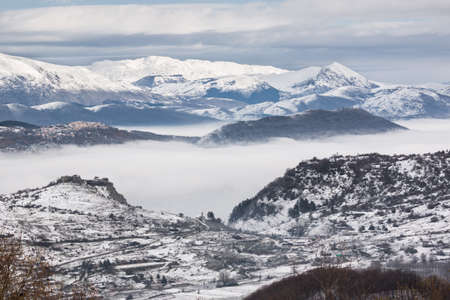 apennines: Snowy mountains