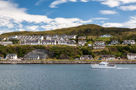 View of Mallaig, a little port in Lochaber, on the west coast of the Highlands of Scotland.