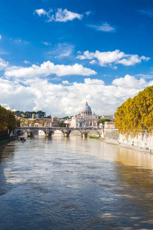 pietro: St. Peter's Basilica in Rome, Italy Stock Photo