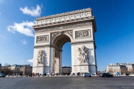 charles de gaulle: Arc de Triomphe in Paris, France