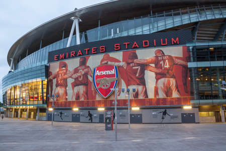 arsenal: London, England, July 31, 2013 - Emirates Stadium  Ashburton Grove, known for sponsorship reasons as the Emirates Stadium or simply The Emirates, is the home of Arsenal  Editorial