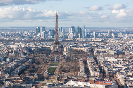Paris skyline photo