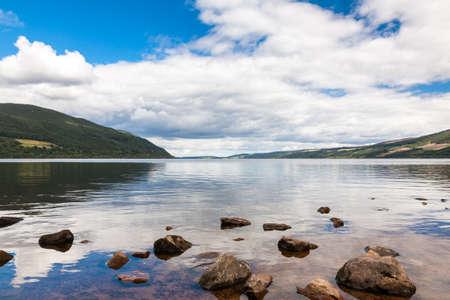 Scottish Highlands, İskoçya Loch Ness Stock Photo