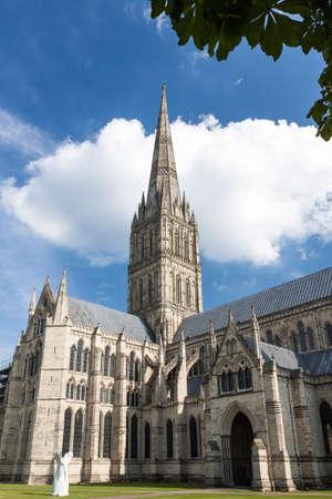 stonehenge: Salisbury Cathedral, Wiltshire, England, UK Stock Photo