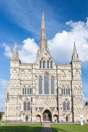 Salisbury Cathedral, Wiltshire, England, UK Stock Photo