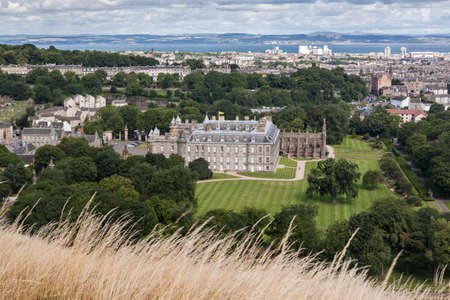 Edinburgh Skyline with Holyrood Palace, Scotland, UK