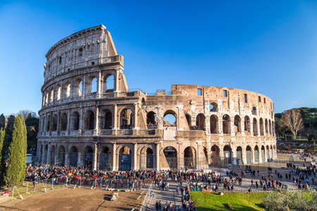 panorama view: Colosseum in Rome, Italy