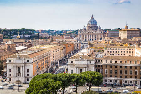 peter: Skyline of Rome Stock Photo