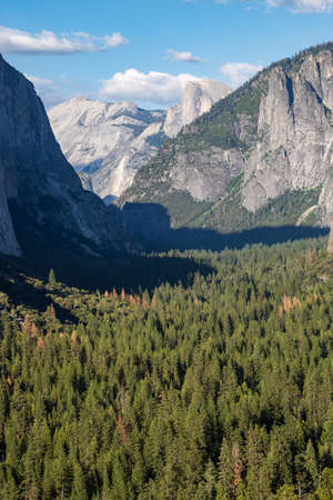 tunnel view: View of Yosemite park from Tunnel View.