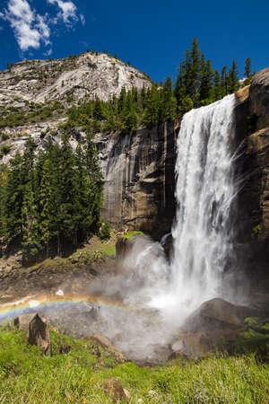 john muir trail: Vernal Fall in Yosemite National Park, California, USA.