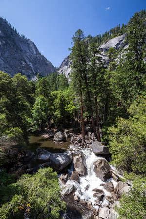 merced: Yosemite National Park, Merced River at Mist Trail.
