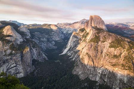 yosemite national park: Sunset at Glacier Point in Yosemite National Park, California, USA.