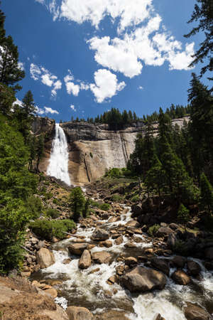 john muir trail: Nevada Fall in Yosemite National Park, California, USA.