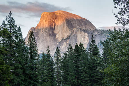 dome: Half Dome at sunset in  Yosemite National Park, California, USA.